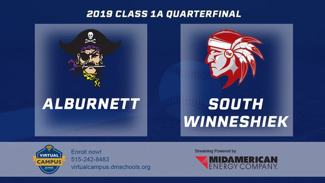 2019 Baseball 1A Quarterfinal - Albur...