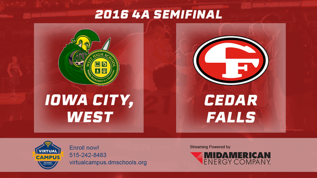 2016 Basketball 4A Semifinal Iowa City, West vs. Cedar Falls