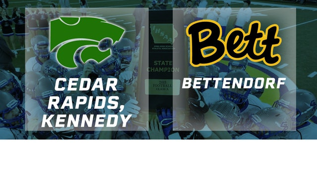 2015 Football Class 4A Semifinal - Cedar Rapids, Kennedy vs. Bettendorf