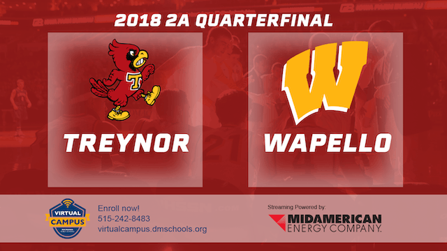 2018 Basketball Class 2A Quarterfinal (Treynor vs. Wapello)