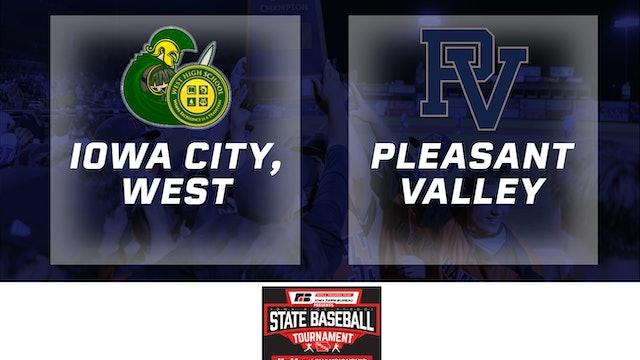 2019 Baseball 4A Quarterfinal - Iowa City, West vs. Pleasant Valley