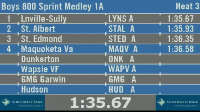Boys 800 Sprint Medley 1A Final Section 3