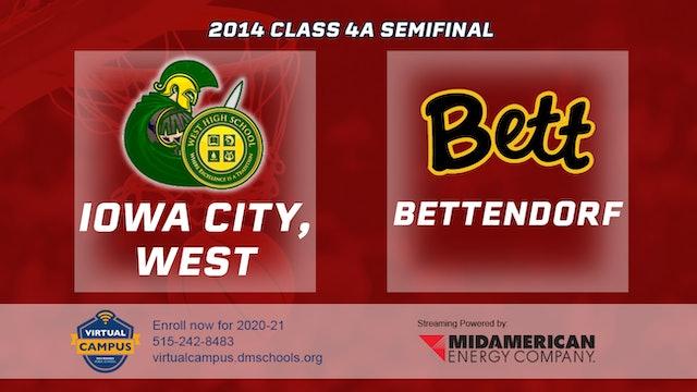 2014 Basketball 4A Semifinal - Iowa City, West vs. Bettendorf