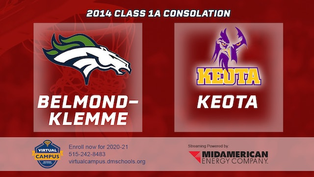 2014 Basketball 1A Consolation - Belmond-Klemme vs. Keota