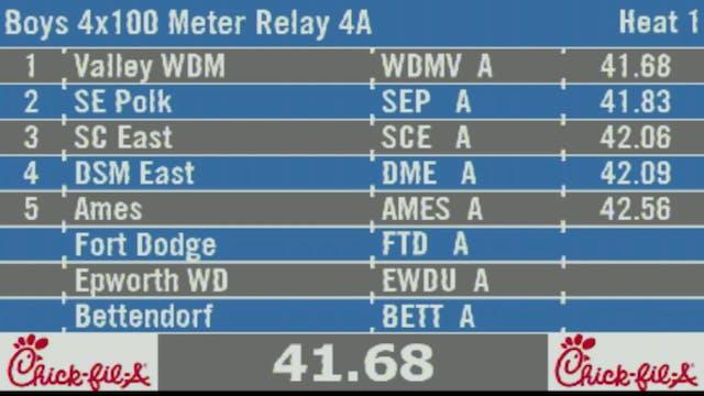 Boys 4x100 Meter Relay 4A Final