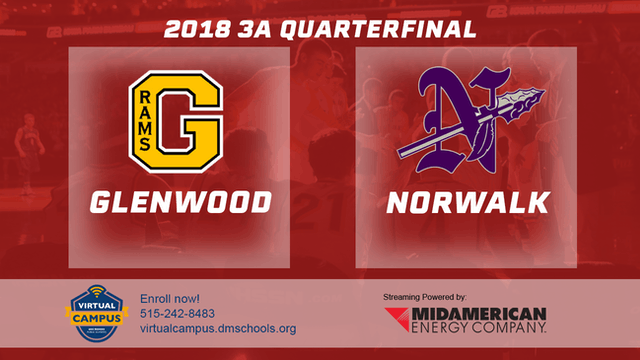 2018 Basketball Class 3A Quarterfinal (Glenwood vs. Norwalk)