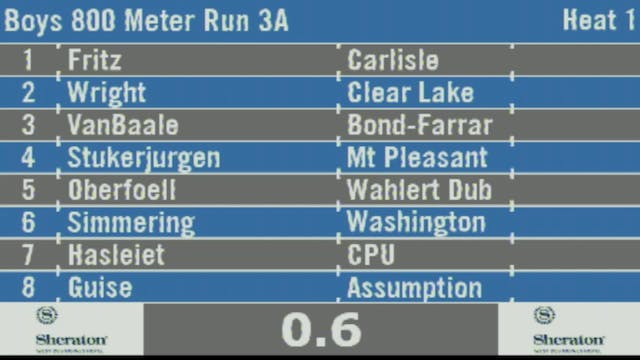 Boys 800 Meter Run 3A Final Section 1