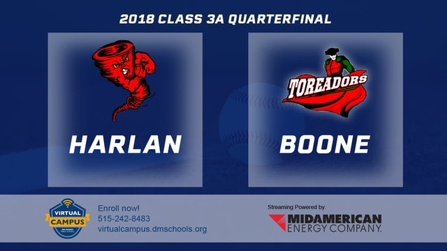 2018 Baseball 3A Quarterfinal - Harlan vs. Boone