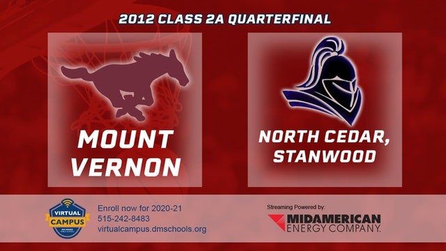 2012 Basketball 2A Quarterfinal - Mount Vernon vs. North Cedar, Stanwood