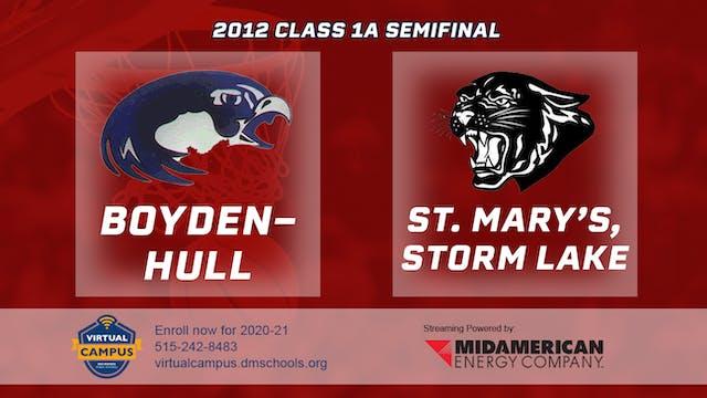 2012 Basketball 1A Semifinal - Boyden...