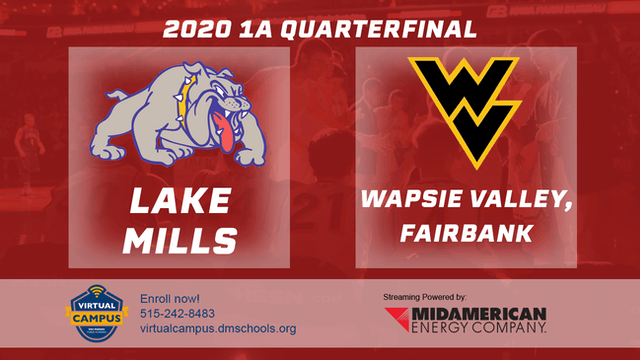 2020 Basketball 1A Quarterfinal - Lake Mills vs. Wapsie Valley