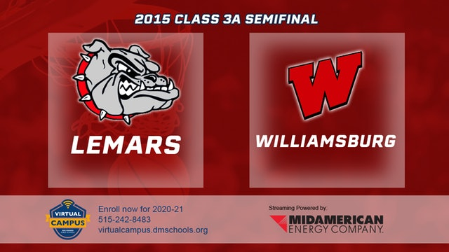 2015 Basketball Class 3A Semifinal Lemars vs. Williamsburg
