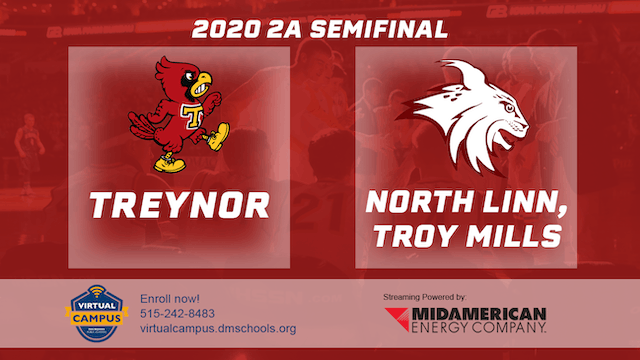 2020 Basketball 2A Semifinal - Treynor vs. North Linn, Troy Mills 8:15 pm