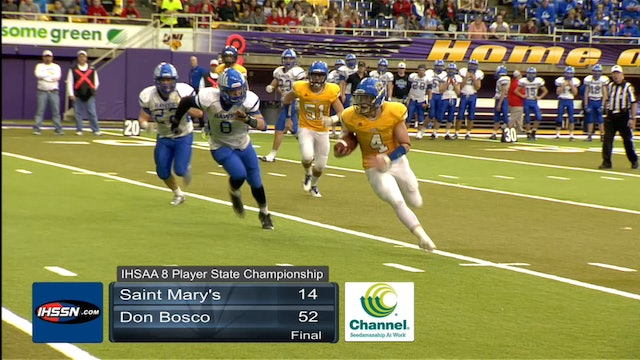 2017 Football 8P Final Highlights - Don Bosco vs. St. Mary's, Remsen