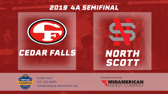 2019 Basketball 4A Semifinal - Cedar Falls vs. North Scott, Eldridge