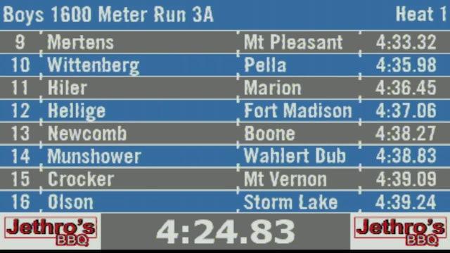 Boys 1600 Meter Run 3A Final