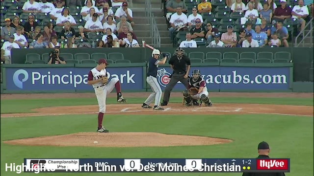 2019 Baseball Highlights - 2A Semifinal North Linn vs. DSM Christian
