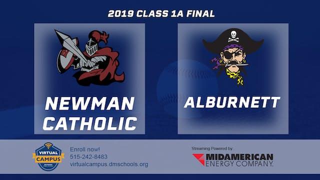 2019 Baseball 1A Championship - Newma...