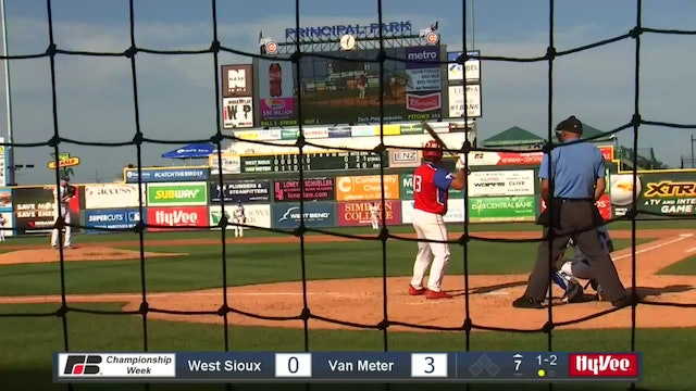 2019 Baseball Highlights - 2A Semifinal Van Meter vs. West Sioux