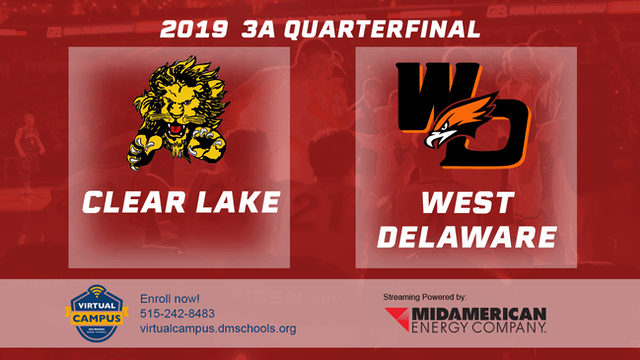2019 3A Basketball Quarter Finals: Clear Lake vs. West Delaware, Manchester