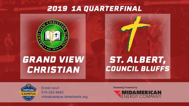 2019 Basketball 1A Quarterfinal - GV Christian vs St. Albert, Council Bluffs