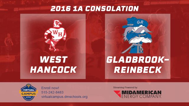 2016 Basketball 1A Consolation West Hancock vs Gladbrook-Reinbeck