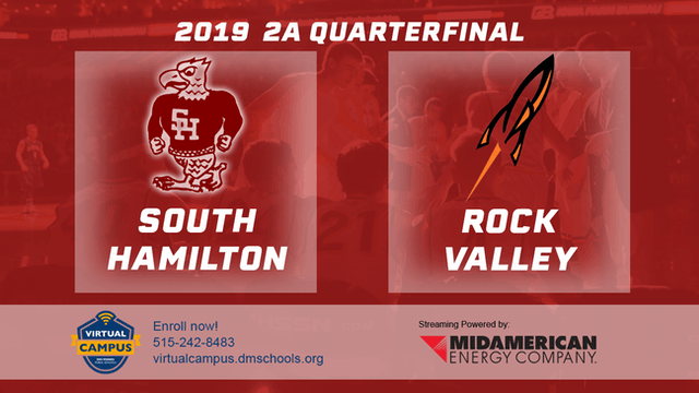 2019 Basketball 2A Quarterfinal - South Hamilton, Jewell vs. Rock Valley