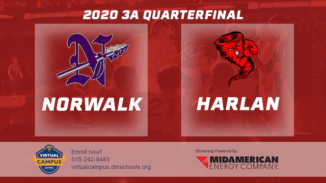 2020 Basketball 3A Quarterfinal - Norwalk vs. Harlan 11:15 am