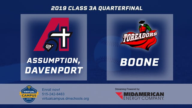 2019 Baseball 3A Quarterfinal - Assum...