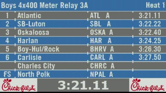 Boys 4x400 Meter Relay 3A Final
