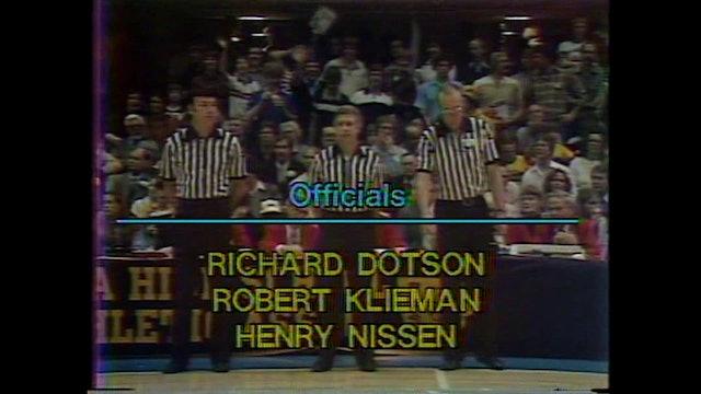 1985 Boys Basketball Class 3A Championship WDM Dowling vs Dubuque Wahlert Part 1