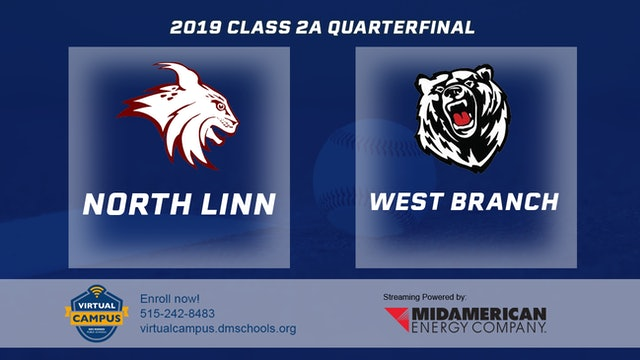 2019 Baseball 2A Quarterfinal North Linn, Troy Mills vs. West Branch