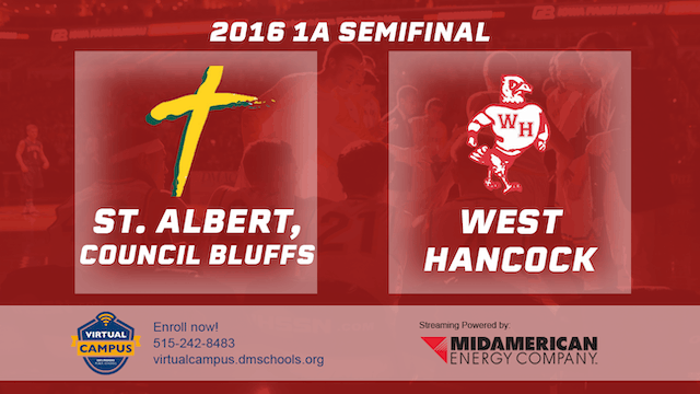 2016 Basketball 1A Semifinal St. Albe...