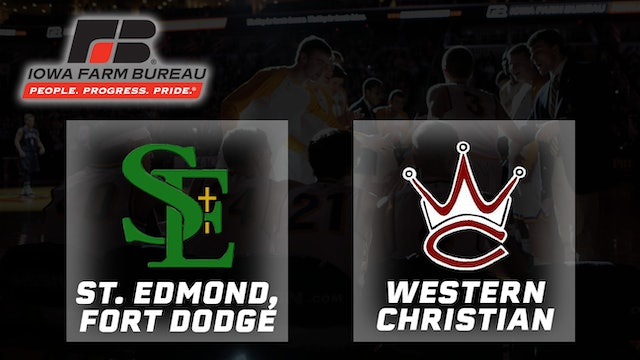 2008 Basketball 2A Final - St. Edmond, Fort Dodge vs. Western Christian, Hull