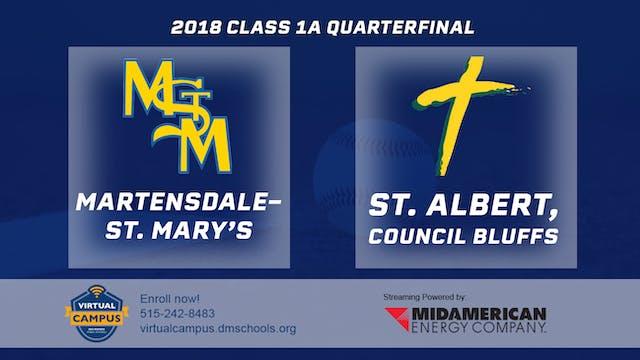 2018 Baseball 1A Quarterfinal - Marte...