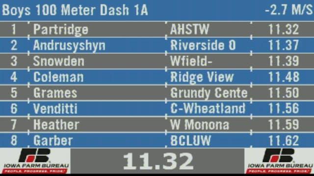 Boys 100 Meter Dash 1A Final