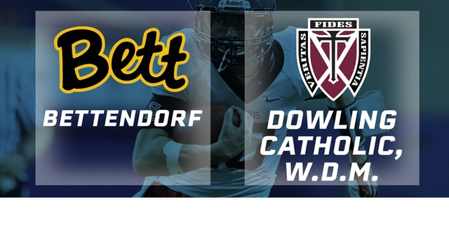 2018 Football 4A Semifinal - Bettendorf vs. Dowling, Catholic, W.D.M.