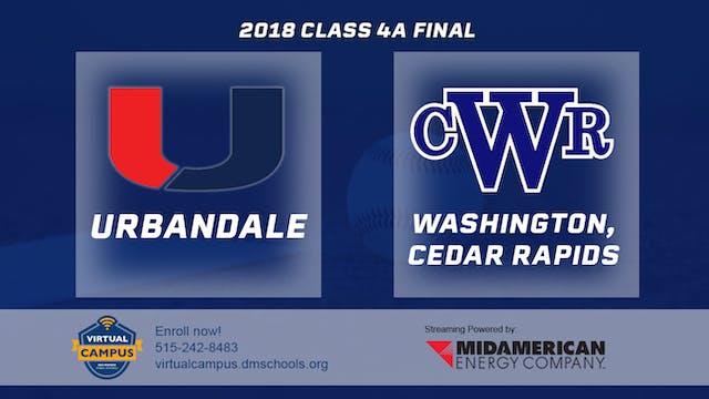 2018 Baseball 4A Championship - Urban...