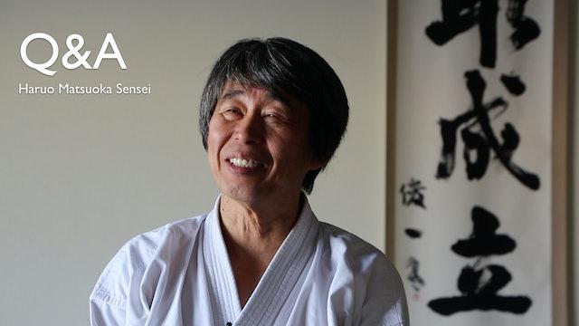 Matsuoka Sensei Q&A