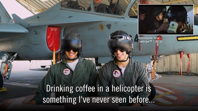 3. IDF Pilots Review Flight Scenes from Movies
