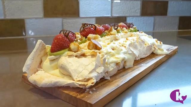 Lemon Mousse Meringue Roll
