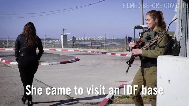 4. Israeli Singer Performing with IDF Female Combat Commander