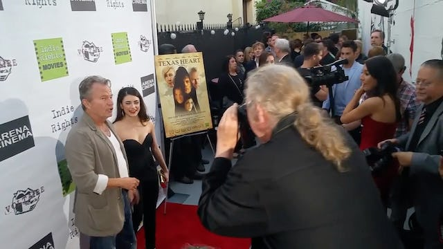 John Savage and Daniela Bobadilla on the red carpet for Texas Heart