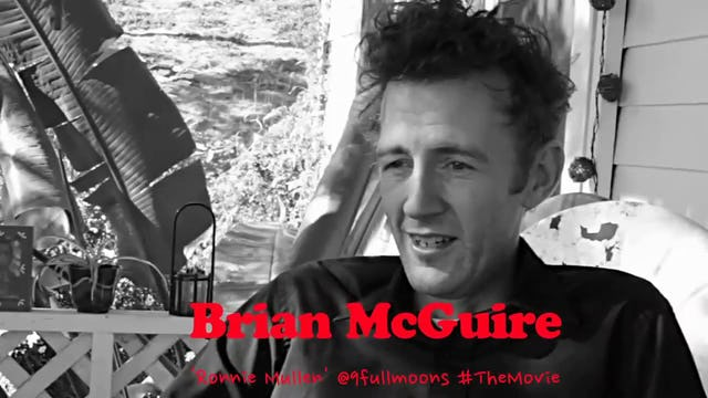 9 FULL MOONS on set interview with Brian Mcguire.
