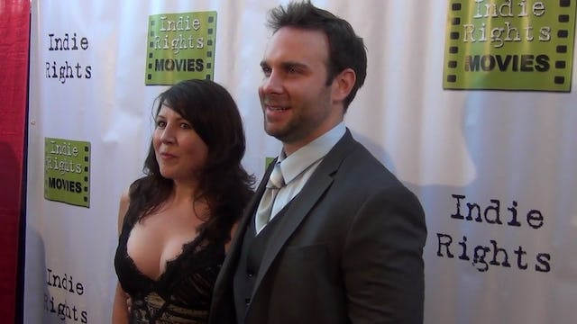 Bryan Kaplan, Christy Lee Hughes arriving to Fray Movie Premiere