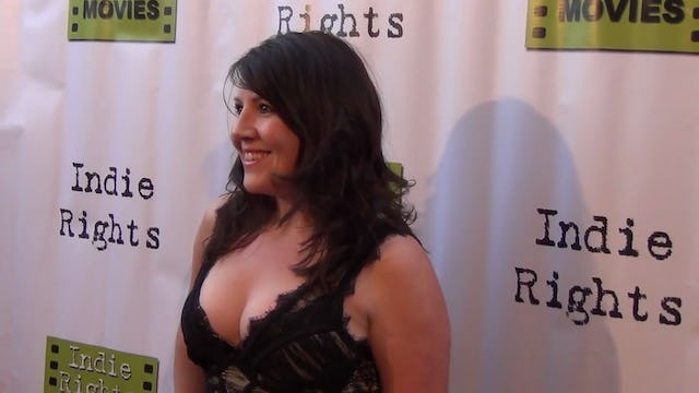 Christy Lee Hughes arriving to Fray Movie Premiere