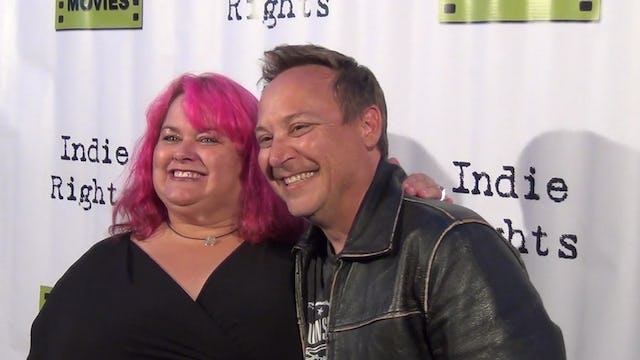 Keith Coogan from Adventures In Babysitting arriving to Fray Movie Premiere