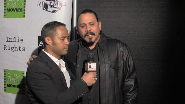Pretty Rosebud: Emilio Rivera with Tyrone Tann. Pretty Rosebud Movie Premiere