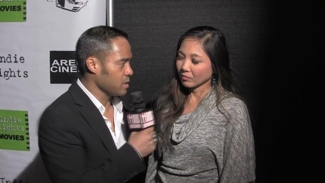 Pretty Rosebud: Jennifer Aquino with Tyrone Tann. Pretty Rosebud Movie Premiere.
