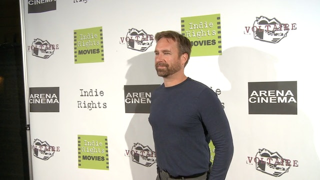 Michael Madison walks the Red Carpet for the Documentary Radicalized.